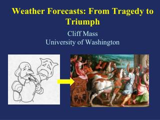 Weather Forecasts: From Tragedy to Triumph Cliff Mass University of Washington