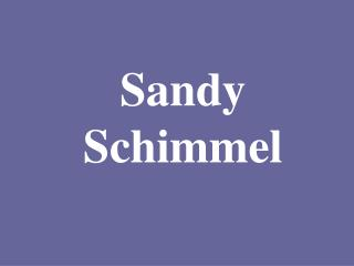 Sandy Schimmel