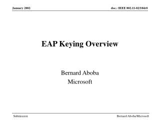 EAP Keying Overview
