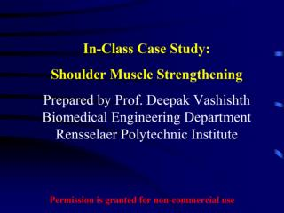 Case Study Shoulder Muscle Strengthening