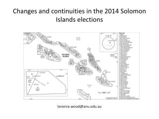 Changes and continuities in the 2014 Solomon Islands elections