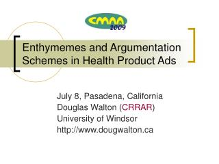 Enthymemes and Argumentation Schemes in Health Product Ads