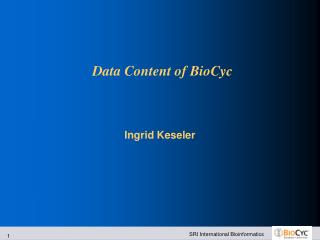 Data Content of BioCyc