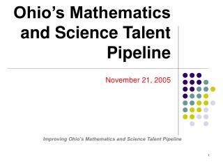 Ohio's Mathematics and Science Talent Pipeline