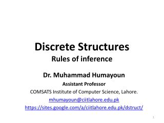 Discrete Structures Rules of inference