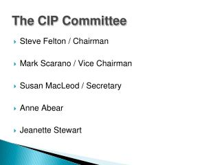 The CIP Committee
