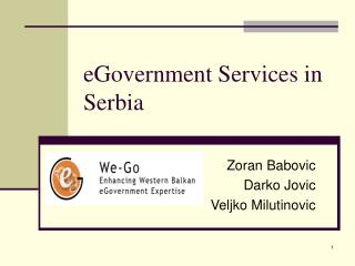 eGovernment Services in Serbia