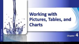 Working with Pictures, Tables, and Charts