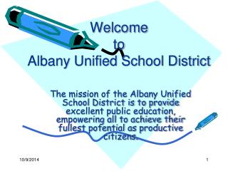 Welcome  to  Albany Unified School District