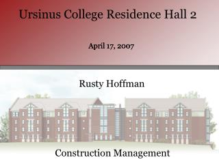 Ursinus College Residence Hall 2
