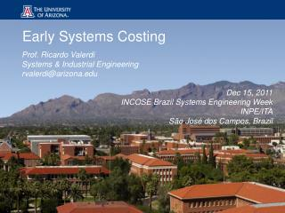 Early Systems Costing