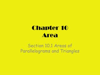 Chapter 10 Area