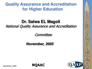 Quality Assurance and Accreditation for Higher Education