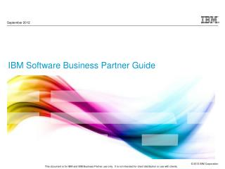 IBM Software Business Partner Guide