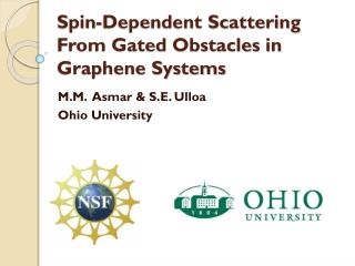 Spin-Dependent Scattering From Gated Obstacles in Graphene Systems