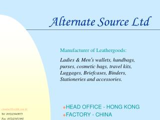 Alternate Source Ltd