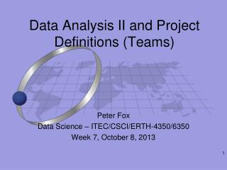 Data Analysis II and Project Definitions (Teams)