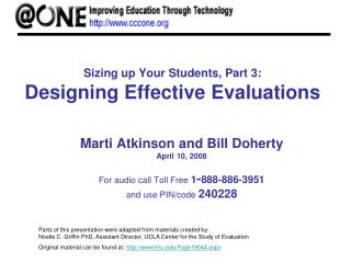 Sizing up Your Students, Part 3: Designing Effective Evaluations