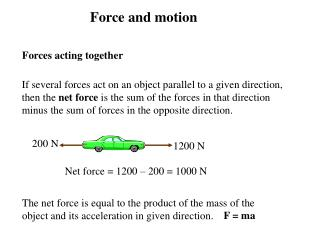 Forces acting together