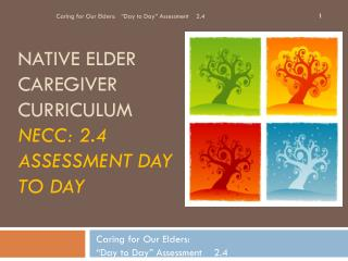 Native elder caregiver curriculum NECC: 2.4 Assessment Day to Day