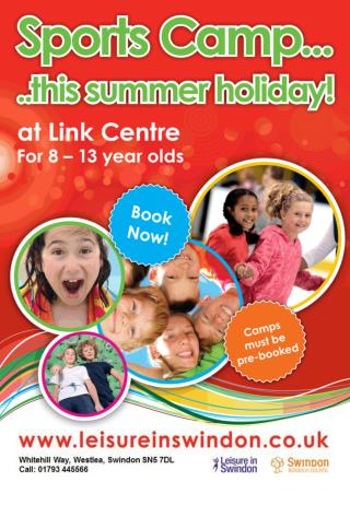 Sports Camp is available during school holidays  (excluding Bank Holidays):