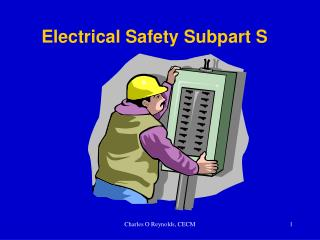Electrical Safety Subpart S