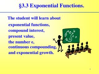 §3.3 Exponential Functions.