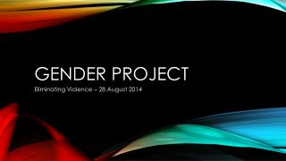 Gender project