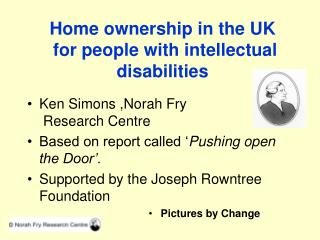 Home ownership in the UK  for people with intellectual disabilities