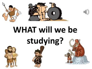 WHAT will we be studying?