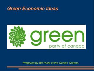 Green Economic Ideas