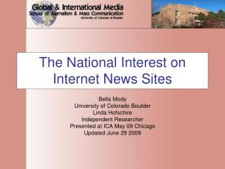 The National Interest on Internet News Sites