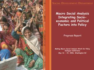 Macro Social Analysis Integrating Socio-economic and Political Factors into Policy