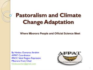 Pastoralism and Climate Change Adaptation