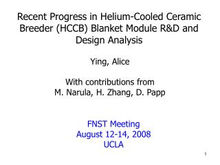 Recent Progress in Helium-Cooled Ceramic Breeder (HCCB) Blanket Module R&D and Design Analysis