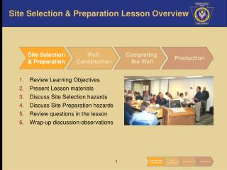 Site Selection & Preparation Lesson Overview