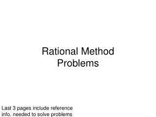 Rational Method  Problems