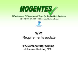 WP1 Requirements update