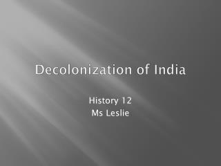 Decolonization of India