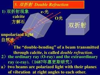 5.  双折射   Double Refraction