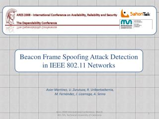 Beacon Frame Spoofing Attack Detection  in IEEE 802.11 Networks
