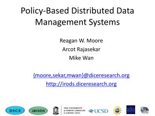 Policy-Based Distributed Data Management Systems