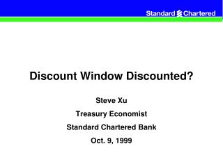 Discount Window Discounted?