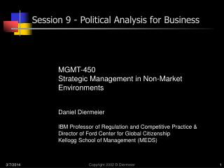 Session 9 - Political Analysis for Business