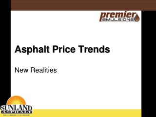 Asphalt Price Trends