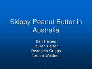 Skippy Peanut Butter in Australia