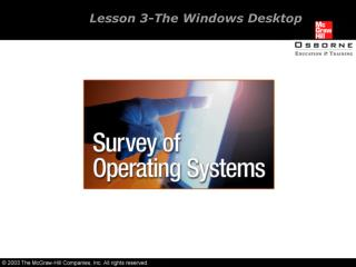 Lesson 3-The Windows Desktop