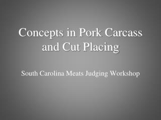 South Carolina Meats Judging Workshop