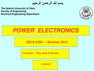 POWER  ELECTRONICS
